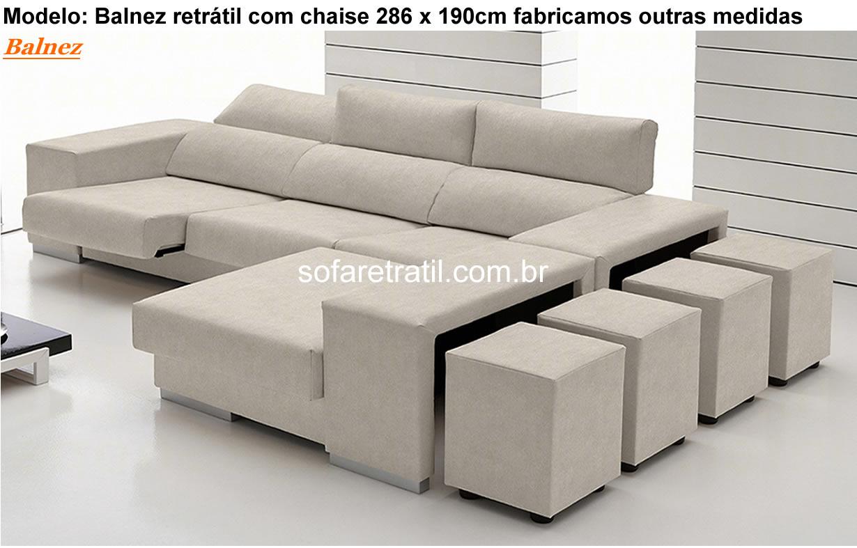 Sof retr til com chaise 84 modelos inspiradores em for Medidas de sofas pequenos